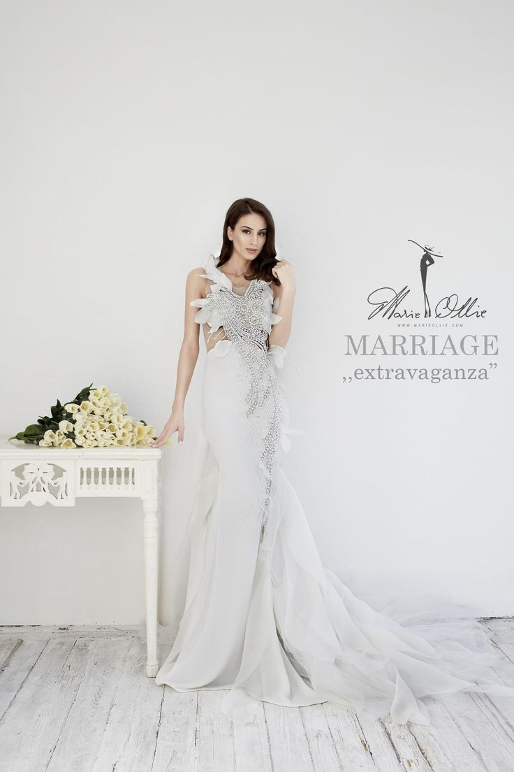 Marie Ollie, Marriage extravaganza, wedding dress, bride