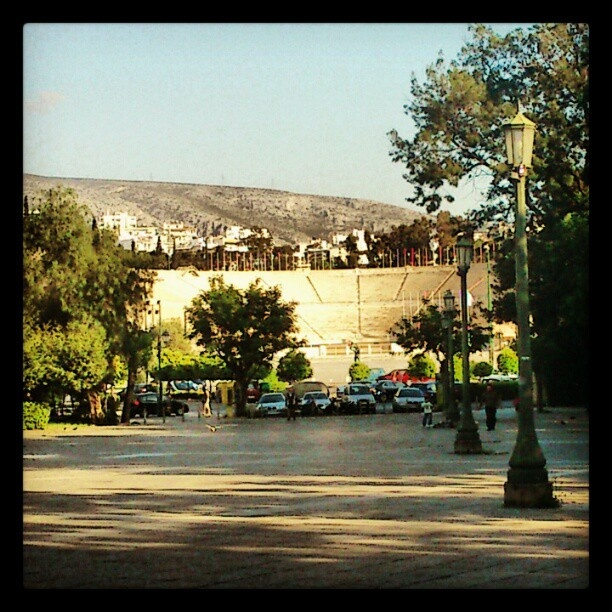 #Kallimarmaro #stadium , view from #Zappeion. #AthensAsWeKnowIt