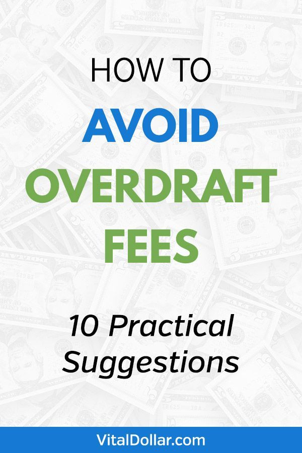 10 Smart Ways To Avoid Overdraft Fees With Images Ways To Get