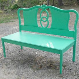 Build a Bench with an Old Headboard