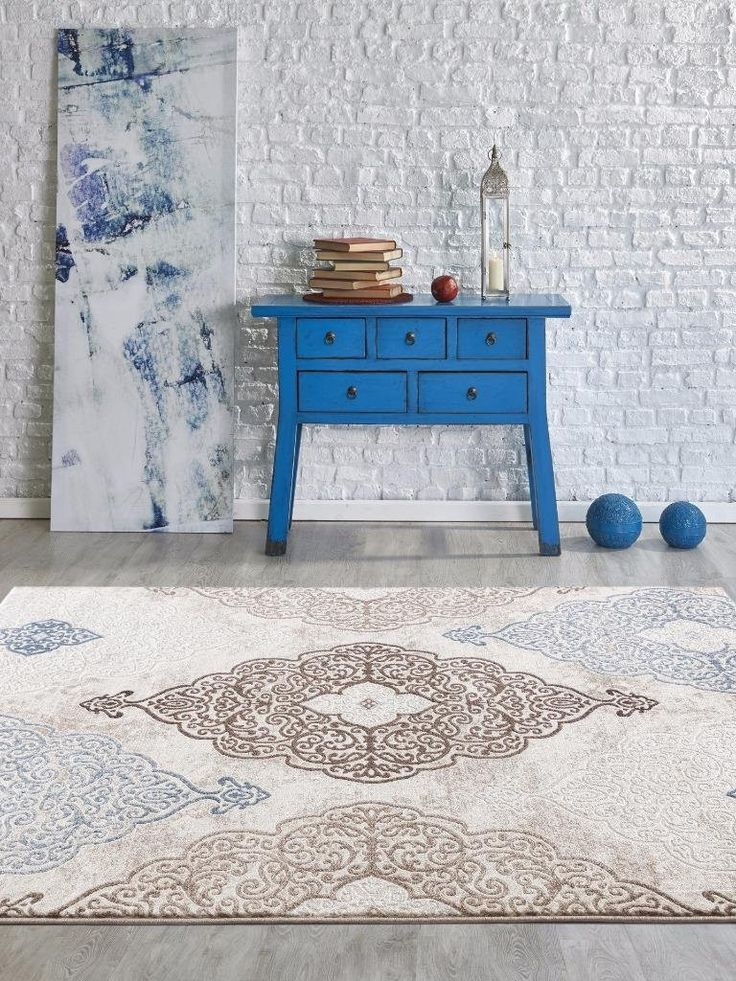 blue area rugs discount