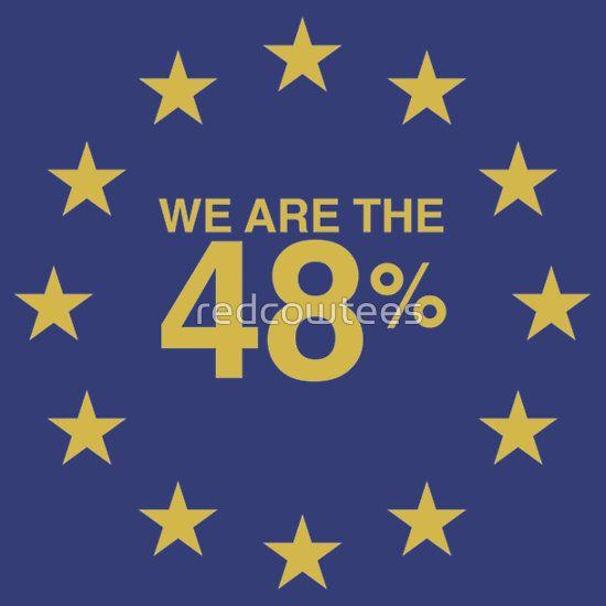 Don't blame me, I voted Remain 48% in UK EU Referendum