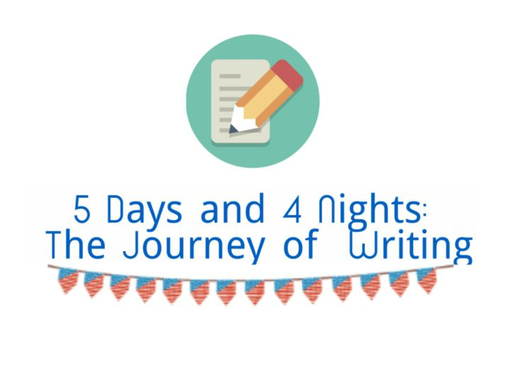 5 Days and 4 Nights: The journey of writing is all about the 'process'. The moments you spent on writing and editing an article means being in the process.