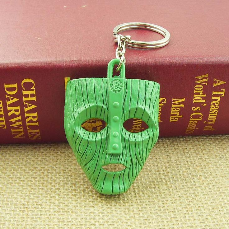 2 color Movie Son of the Mask 2 the Mask 3D Gold 6cm Metal Keychain Keyring New Hot 12pc/lot