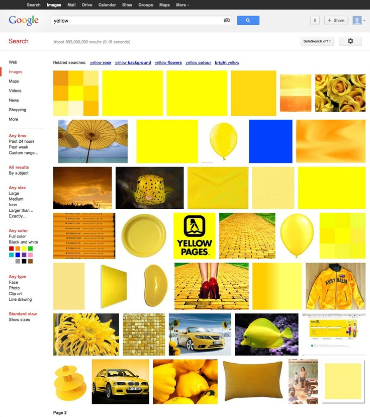 Google images - NOT Yellow...