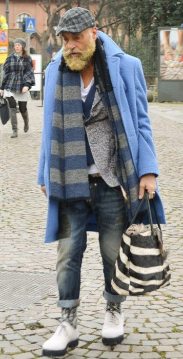 "takablotaro: ""Street style Pitti Uomo 87 – Powered by Louis Purple – Ziua 4 - Stil Masculin .ro "" Gabriele Pasini"