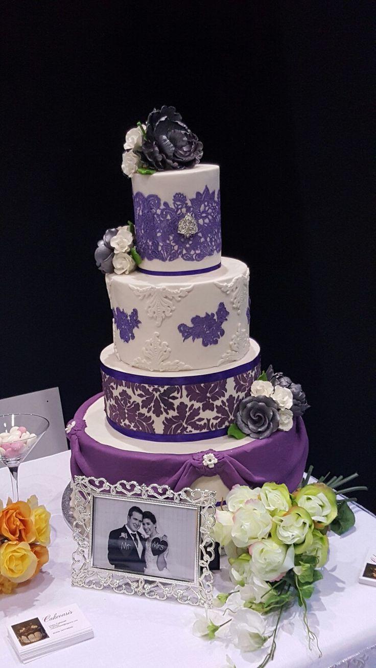 Purple Haze Wedding Cake