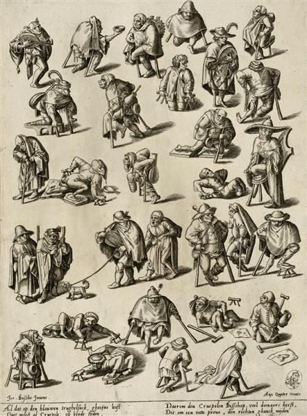Cripples, beggars and begging musicians Bosch, Hieronymus (1450-1516) | Inventor unknown | Stecher Diericx, Volcxken (1570-1600 worked) | Publishing 1570-1600
