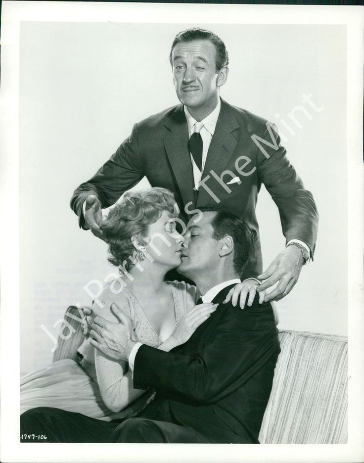"""Gig Young with Shirley MacLaine and David Niven in """"Ask any girl"""" (1959)"""