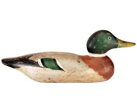 Mason duck decoy, around the 1910s