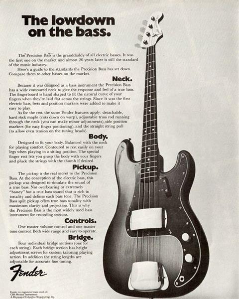 #bass #bassist #Fender #vintage #vintagebass #Fenderpbass #pbass #precisionbass #advertisement #vintagegear #FBF #flashbackfriday #bassplayers #welovebass #basslink #thebasslink #bassplayersunited