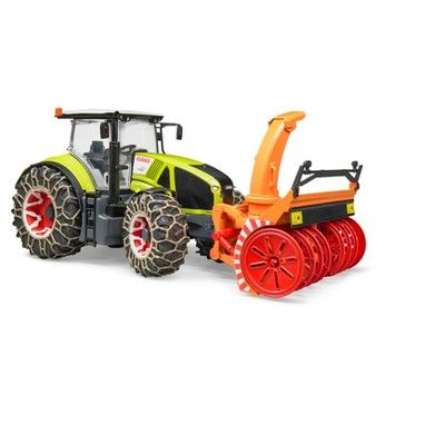 Bruder Toys Claas Axion 950 with Snow Chains and Snow Blower - 1/16 Scale Realistic - Functional Toy Agriculture Vehicle