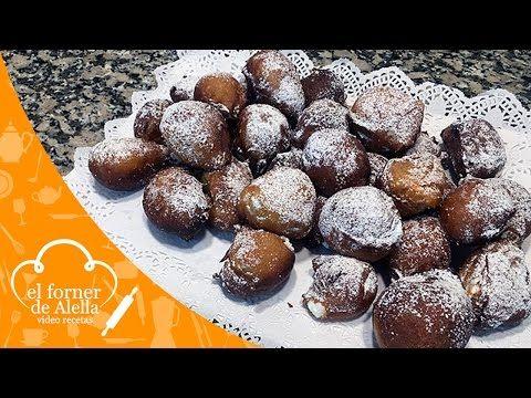 Buñuelos de Viento rellenos de Nata - El Forner de Alella