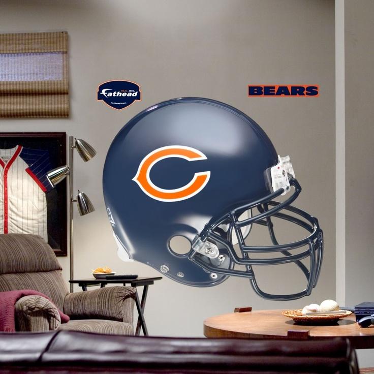 Fathead Chicago Bears Helmet Wall Graphic   11 10006 Part 16
