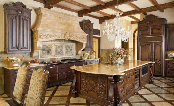Stunning Old World Tuscan Kitchen Style With Marble