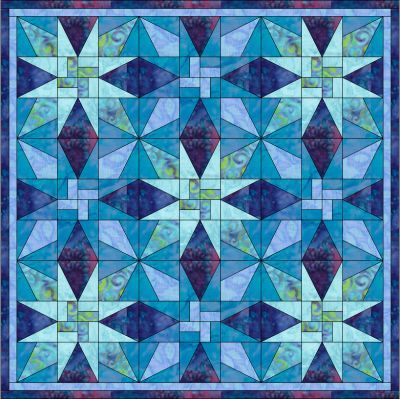 Patchwork pattern: Rail Fence Star