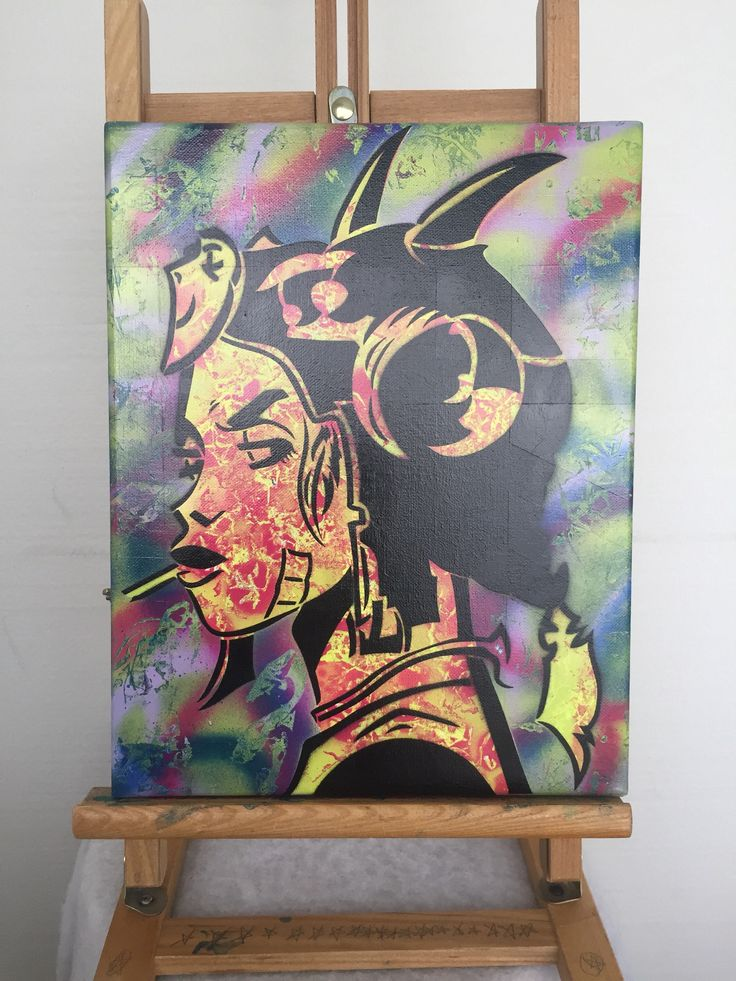A personal favorite from my Etsy shop https://www.etsy.com/ca/listing/531034757/stylized-punk-tank-girl-spray-painting