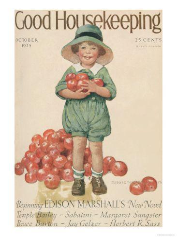 Good Housekeeping, October 1925: Books Jackets, Housekeeping Covers, Housekeeping Magazines, Covers Magazines, Art Prints, Vintage Magazines, Covers Art, Magazines Covers, October 1925