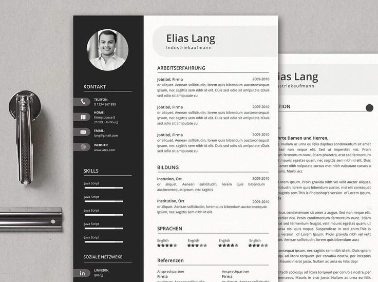 79 best bewerbung images on pinterest career page layout and resume design. Black Bedroom Furniture Sets. Home Design Ideas