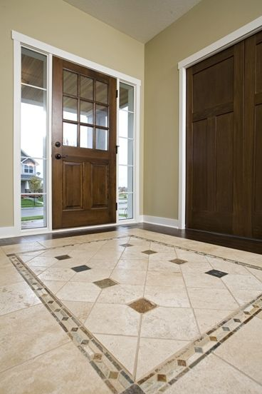 Amazing foyer tile floor designs 12 excellent foyer for Foyer flooring ideas