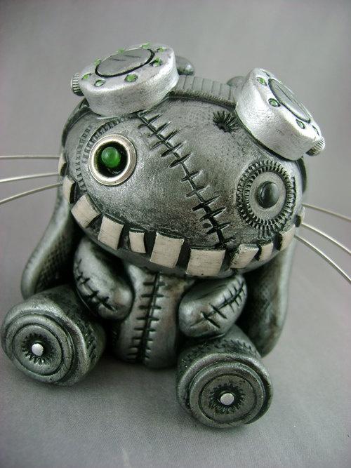 Amazing!!!  Steambunneh - Freestanding Industrial Steampunk Bunny Sculpture, via monsterkookies on Etsy.