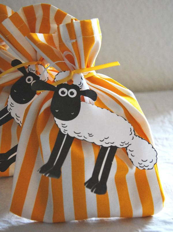 Shaun the sheep party bags #ShaunTheSheepFlock #ad