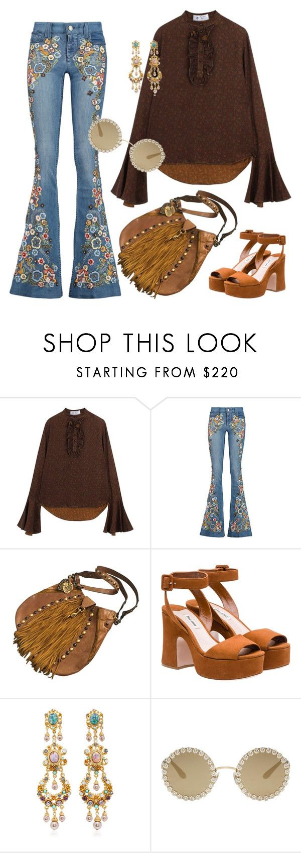 Boho by repriza on Polyvore featuring мода, The Bee's Sneeze, Alice + Olivia, Miu Miu, Gucci, Ben-Amun and Dolce&Gabbana