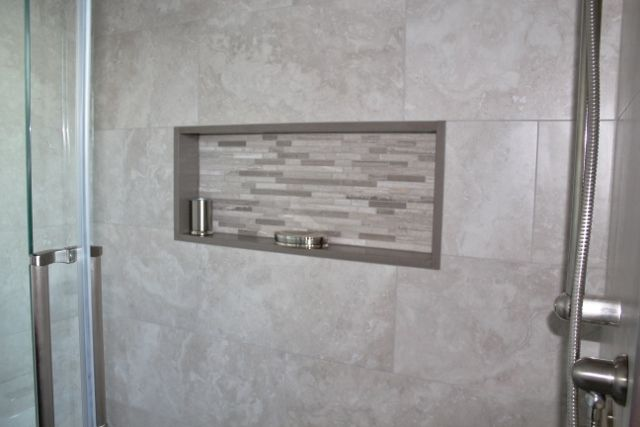 Niches in showers are so practical