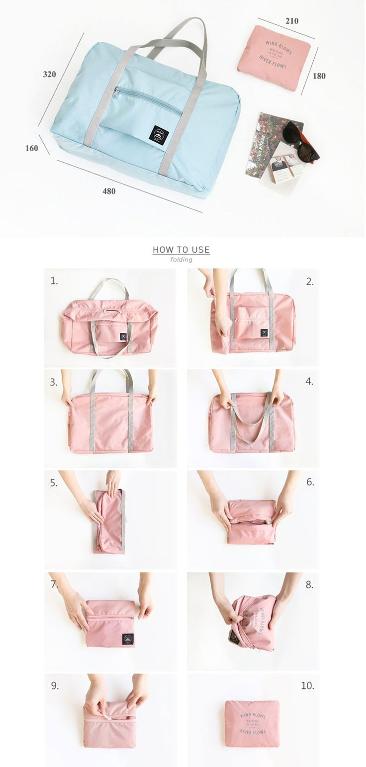 Large Travel Bag Waterproof Storage Bag Luggage Folding Handbag Shoulder Bag Storage Containers Cheap - NewChic