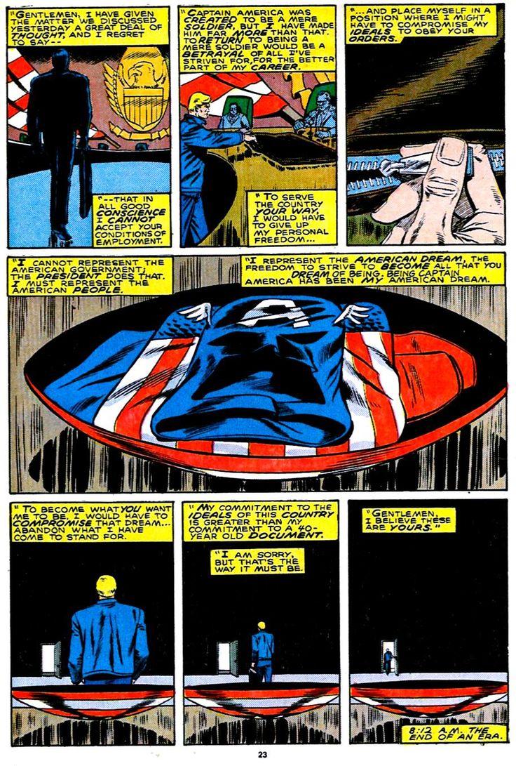 6. Cap Leaves (August, 1987)   Captain America Vol. 1 #332    Top 10 Most Important Captain America Comics & Stories