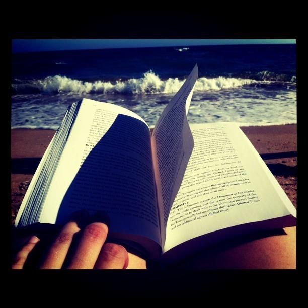 There's nothing like reading a good book in the beach
