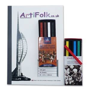 Artifolk Contes Carres Crayons Sketching Set with A5 Pad (1029)