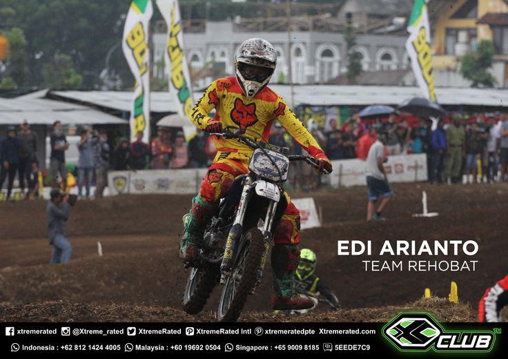 CONGRATULATIONS!  XCLUB Sponsor Rider REHOBAT TEAM  EDI ARYANTO 3rd Place in Moped Class 110 Open POWERTRACK SERIES 4 (Nov, 04 - 05th 2017) Circuit Powertrack Paramount, Batu, Malang, Indonesia.  #xtremerated #xclub #grasstrack #indonesia