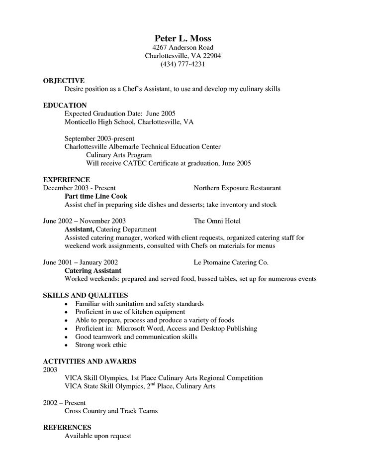 line cook resume chef resume sample examples sous chef jobs