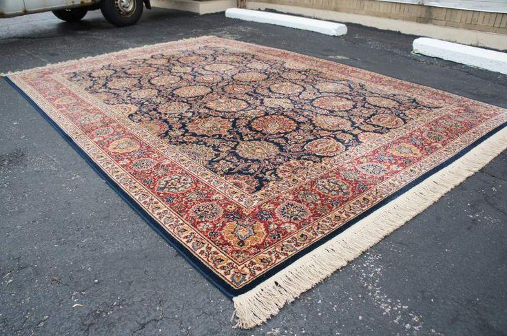 "8'8"" x 12' Original Karastan Collection #786 Kazvin 100% Wool Area Rug American | The Designers Consignment"