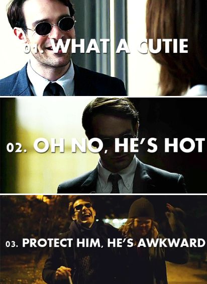 Matt Murdock fangirling -- I'm pinning this because WHY IS NO ONE TALKING ABOUT BABY COLLEGE AVOCADOS??? THEY'RE PRESH!