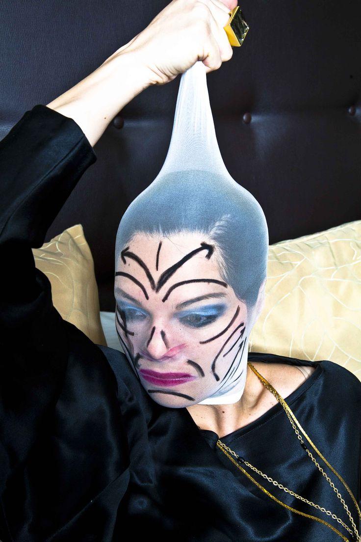 Stocking mask art. | Halloween | Masks art, Halloween face ...