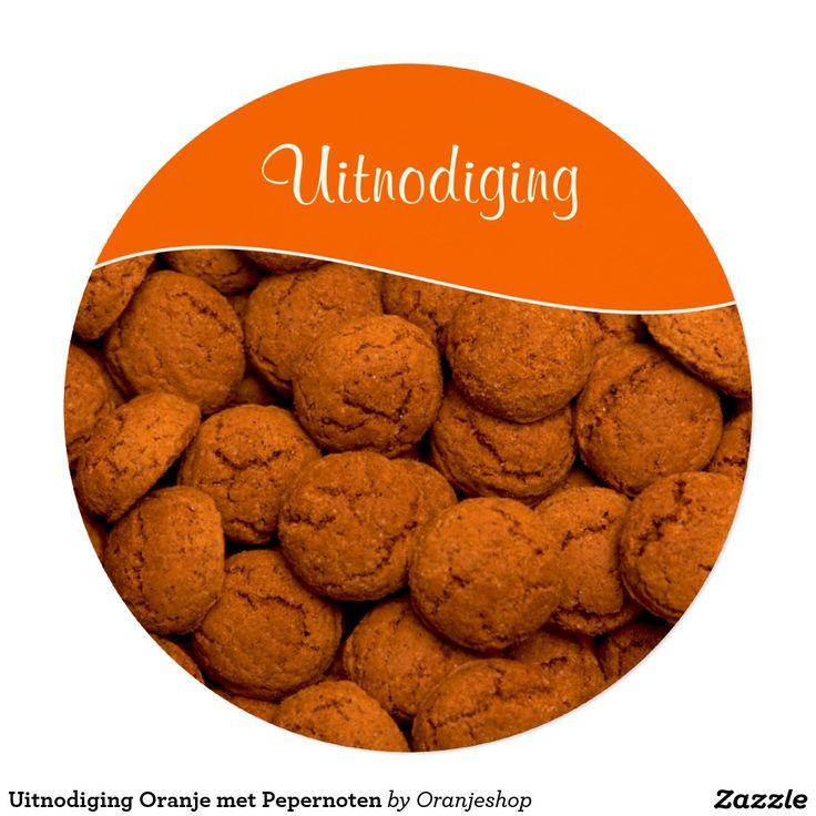Uitnodiging Oranje met Pepernoten Invitation