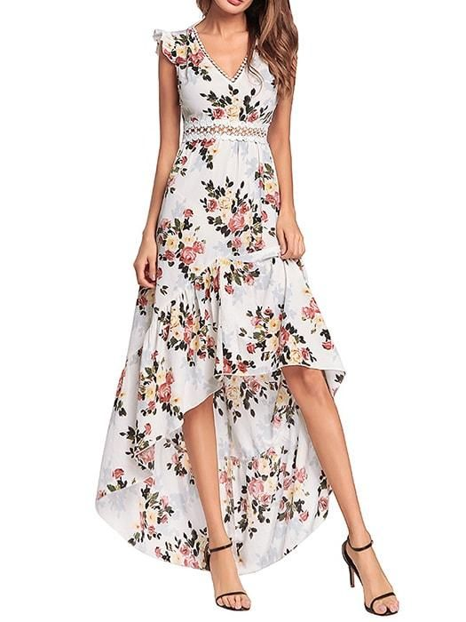 dc63208f682 whatsmode.com  aff 365 Asymmetric V-neck Backless Dress In Floral Print   22.99 Check this out now just click the link above  WhatsMode