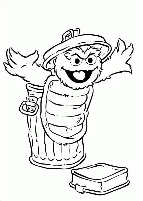 coloring pages oscar the grouch - photo#23