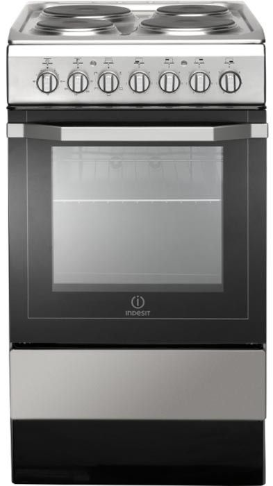 INDESIT I5ESH1X Cooker 50cm Electric Single Cavity Silver