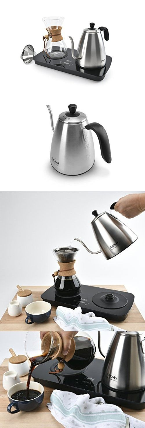 Aroma Housewares AWK-2000GD Professional Digital Pour Over Coffee Maker, Stainless Steel