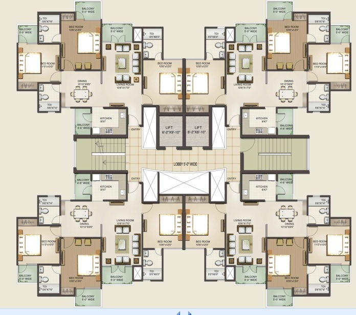 Sunworld Vanalika Floor Plans