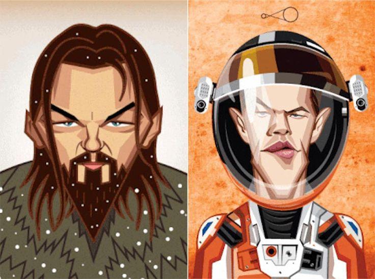 Actores y sus Personajes en GIF Animados