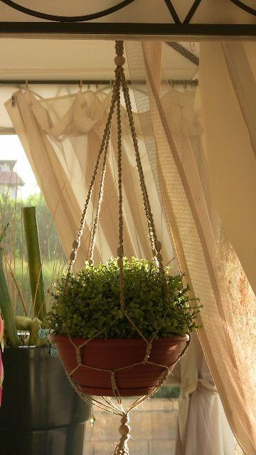 porta vaso in corda di canapa #PLANTHANGER #MACRAMEWALLHANGING #portavaso