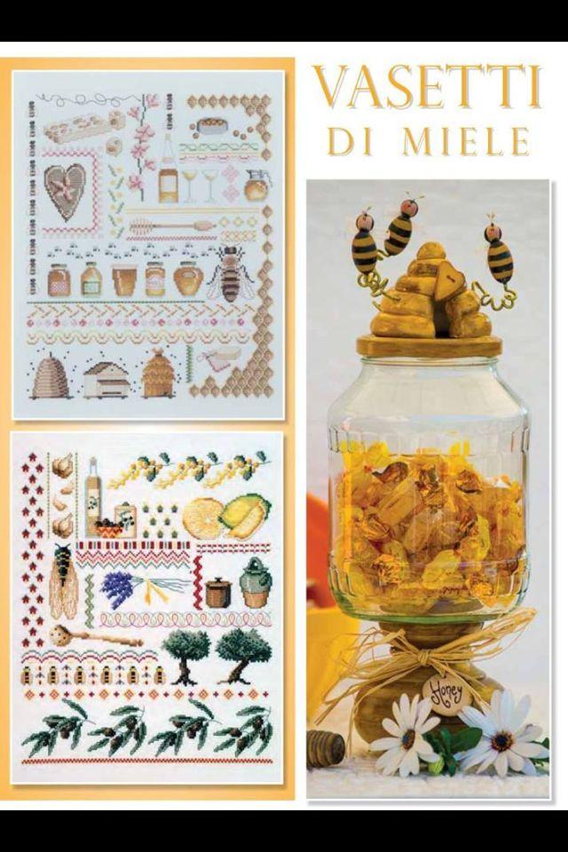 Api vasetti di miele - Jar honey Yellow