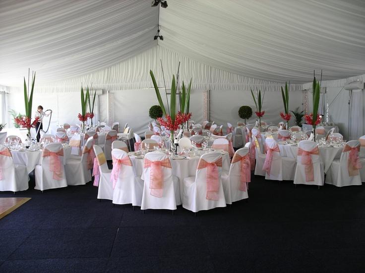 #marquee #weddingreception #freshflowercentrepieces