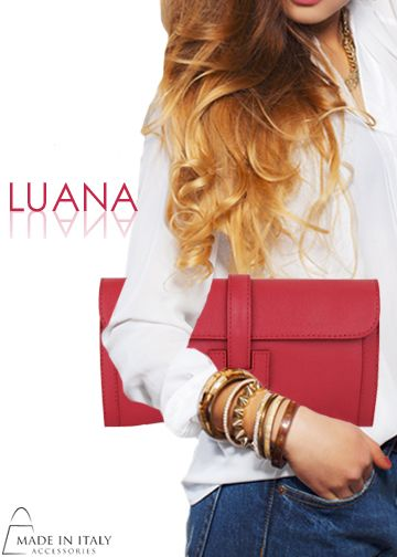 Luana Collection | Saffiano Leather clutch Purse for Women | Made in Italy Accessories https://madeinitalyaccessories.com/luana-leather-handbags