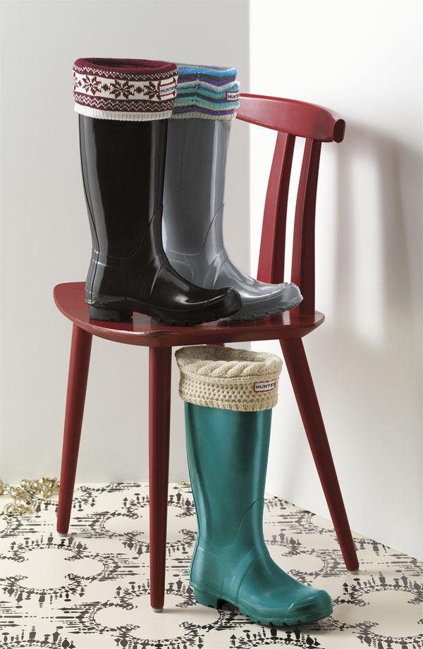 #Hunter Original Tall rain boots with Hunter welly socks - so cute