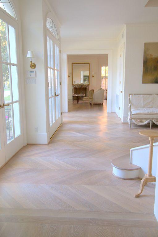 Herringbone floors.
